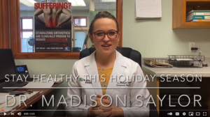 Chiropractor Gaylord MI Dr Madison Saylor Healthy During Holidays